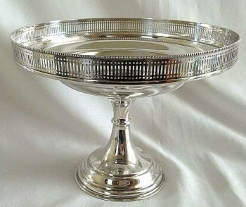 Antique Victorian silver plate Tazza centre piece stand for fruit