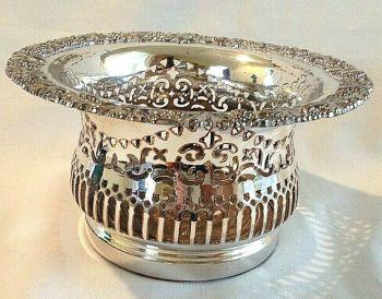 Antique Victorian silver Sheffield plate magnum coaster