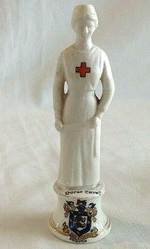 Antique WW1 crested china Nurse Edith Cavell Brighton crest