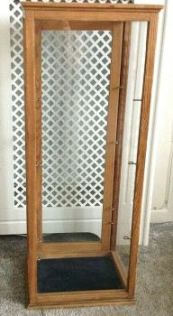 Antique display cabinet table top 5 glass shelves