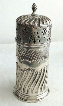 Antique Sterling Silver icing or powdered sugar sifter hallmarked 1924