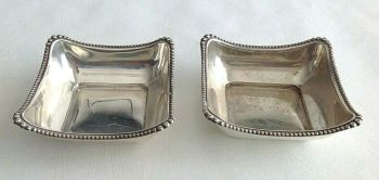 Vintage Sterling Silver dishes pair hallmarked 1927