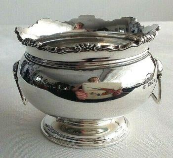 Antique Sterling Silver sugar bowl hallmarked London 1929 Josiah Williams & Co