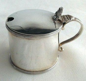 Antique Sterling Silver mustard pot hallmarked London 1925 Henry & Arthur Vander