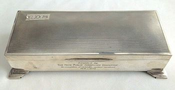 Silver Art Deco box Chester 1935