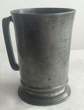 Antique Victorian pewter tankard Jamaica rd S E London E J Ruse