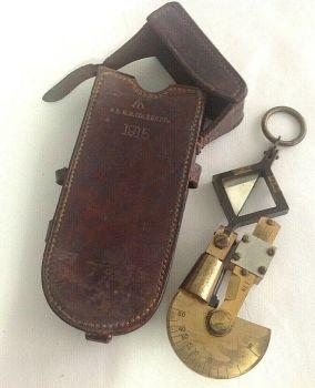 WW1 gunners kit brass reflecting clinometer sexton Troughton & Simms 1915