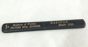 Antique Georgian needle case Baldwin & Walker advertising C1836