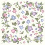 DFT062 Flower Floral Decoupage Tissue Paper