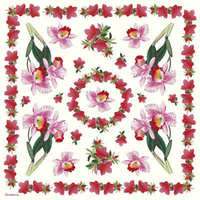 DFT087 Iris Ponsetta Flower Decoupage Tissue Paper