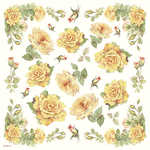 DFT056 Yellow Tea Rose Decoupage Tissue Paper