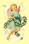 Cherub Angel Christmas Garland Decoration