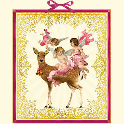 Advent Calendar Cherub Angel Deer