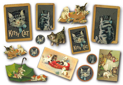 DFS 154 Vintage Cats Kittens