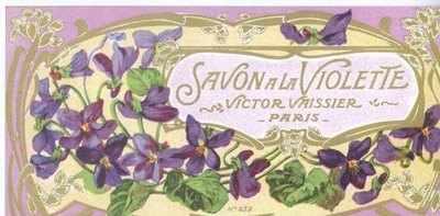 Art Nouveau Savon A La Violette label x 5