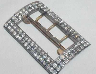 Antique Victorian Sterling Silver Paste Buckle