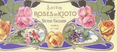 Art Nouveau Savon Roses De Kioto x 5