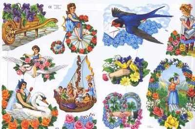 1569 - Swans Fairys Bluebirds Magic Enchanted