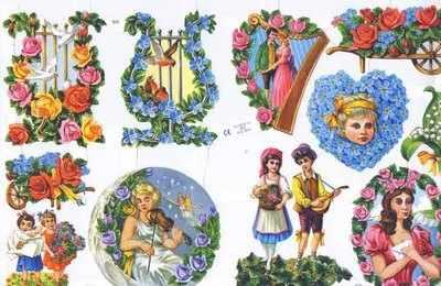 1570 - Harps Violins Doves Roses Romance Fairys