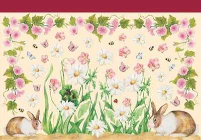 DFV063 - Flowers Floral Bunnys Rabbits ON SALE