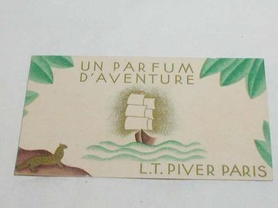 Vintage L T Piver Perfume Card Daventure Un Parfum