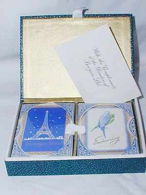 Vintage Playing Card Set Bourjois Perfume Bottle Related