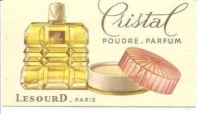 Vintage Perfume Trade Card Lesourd Paris Cristal