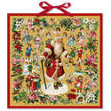 Father Christmas Victorian Style Large Advent Calendar Santa Claus Cherubs