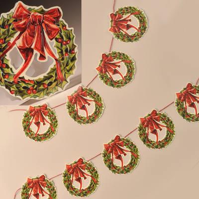 Holly Wreath Garland