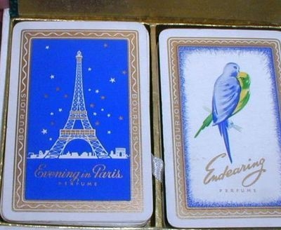 Vintage Evening In Paris Playing Cards