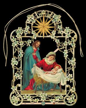 Mary Joseph Jesus Christmas Tree & Window Decoration