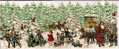 Advent Calendar Christmas Concertina Card