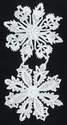 Dresden Scrap Silver Christmas Snowflakes