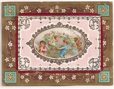 Victorian Embossed Greetings Card