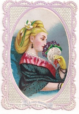 Victorian Embossed Christmas Card