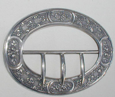 Victorian Silver Buckle