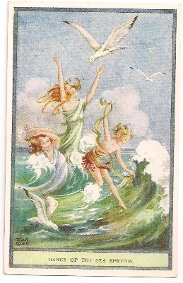 Vintage Rene Cloke Fairy Post Card