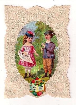 Victorian Embossed Valentine Card