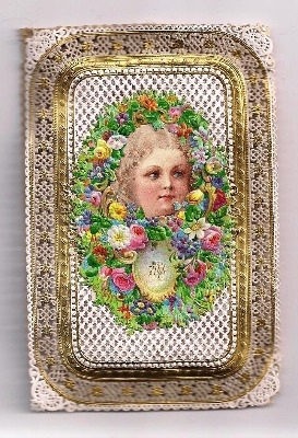 Victorian Paper Lace Christmas Card