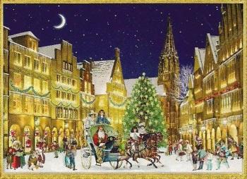 Mini Advent Calendar Santa