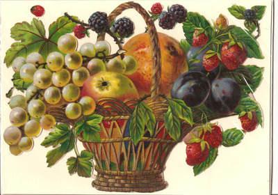 Antique Victorian German Scrap Fruit Basket