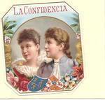 Antique Victorian Die Cut Embossed Cigar Label 161