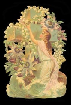 5055 - Cherubs Angels Lilly Of The Valley Scrap Easter