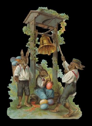 5051 - Easter Bunny Decoupage Scrap