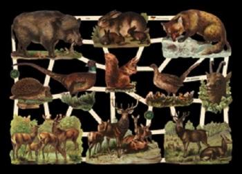 7376 Wild English Animals Fox Boar