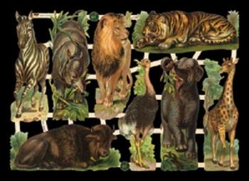 7386 Wild African Animals Lion Tiger Zebra