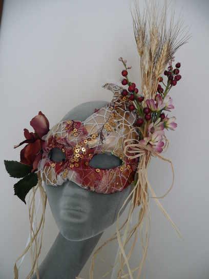 autumn bespoke venetian mask