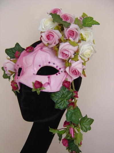 rose bespoke venetian mask