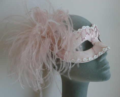 peach venetian mask