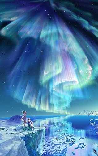 blue spiritual painting